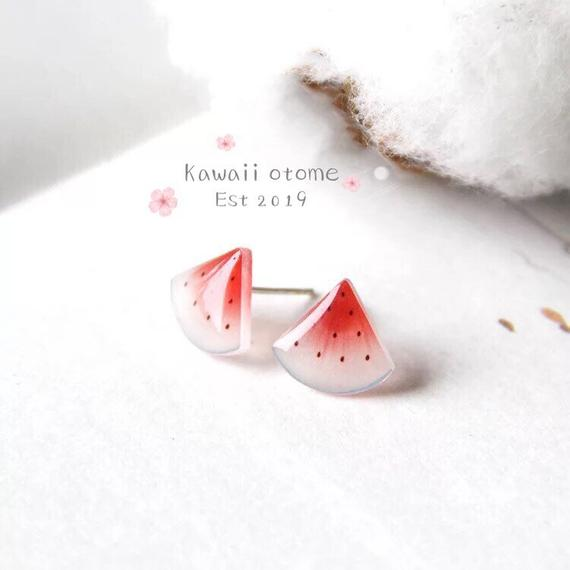 Kawaii Watermelon Earring Studs