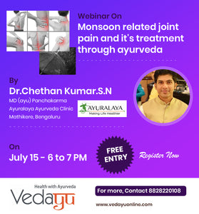 Monsoon related joint pain and it's treatment through Ayurveda by Dr.Chethan Kumar.S.N