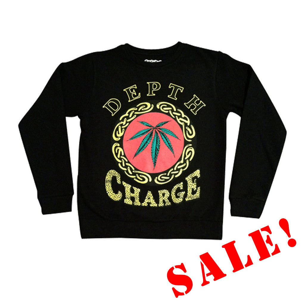 DEPTH CHARGE SWEATSHIRT - BLACK