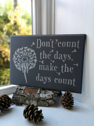 Stenciled motivation Plaque