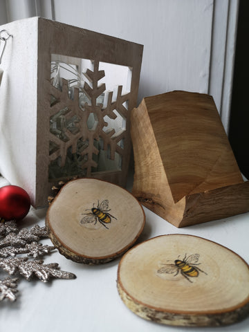 Gift Set - Phone stand & Bee Coasters
