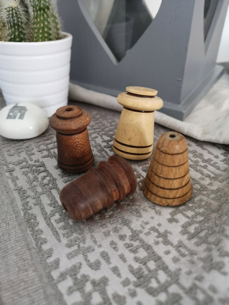 Hand turned Wooden Light Pulls