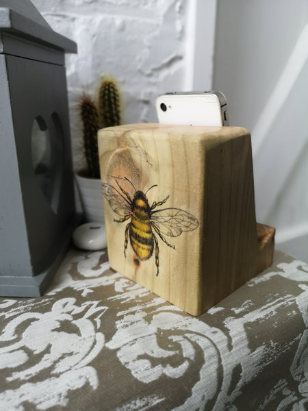 Bee Gift Set including Gift Wrap & Postage - Bee Phone stand & Bee Coasters
