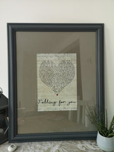 Upcycled Pine Picture Frame - Falling for You