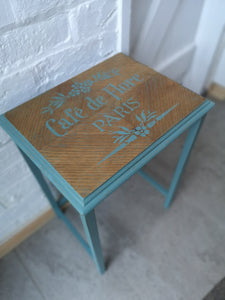 Shabby Chic Stenciled Side Table