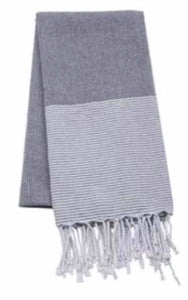 Black Striped Turkish Towel