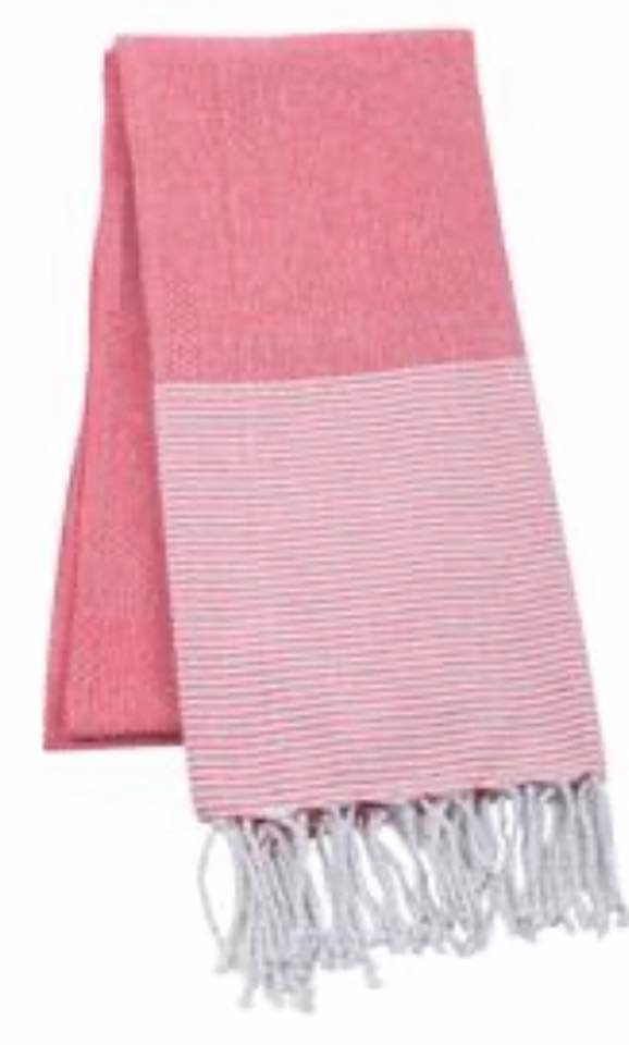 Red Striped Turkish Towel
