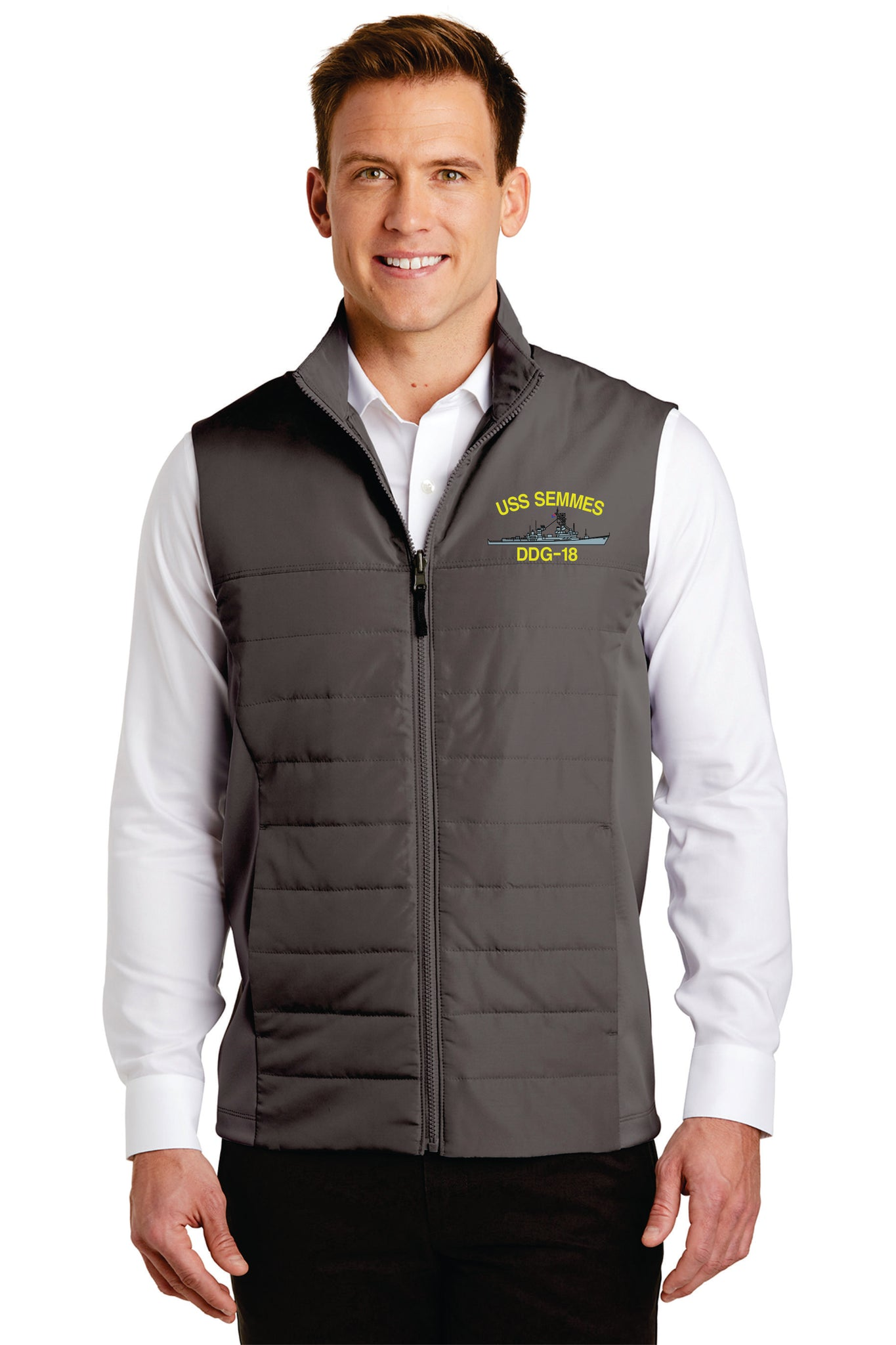 Embroidered  Insulated Vest