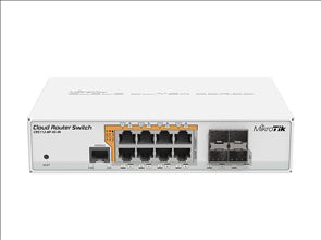 8-Port Gigabit Ethernet PoE Switch with Router OS