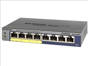 ProSAFE Plus 8-Port Gigabit Ethernet Switch Desktop 4 PoE Ports