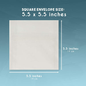 Square Envelopes - 50-Pack 5.5 x 5.5 Inches Self Seal Vellum Paper Envelopes for Greeting Cards, Invitations, Announcements, and Photos - Value Pack Square Flap Envelopes, Clear Translucent White