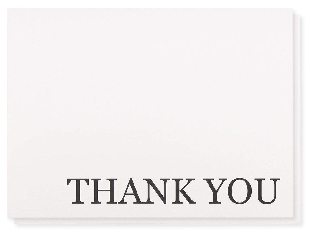 Thank You Cards - 120-Pack Thank You Notes, Bulk Thank You Cards Set - Blank on The Inside - Includes Thank You Cards and Envelopes, White, 5.125 x 3.75 Inches
