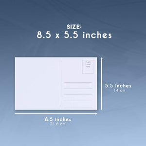 Blank Postcards - 100-Sheet 200-Cards Printable Postcards, 2-Up Perforated Laser and Inkjet Printer Postcards, Self Mailer Mailing Side Postcards, White, 8.5 x 5.5 Inches Per Postcard