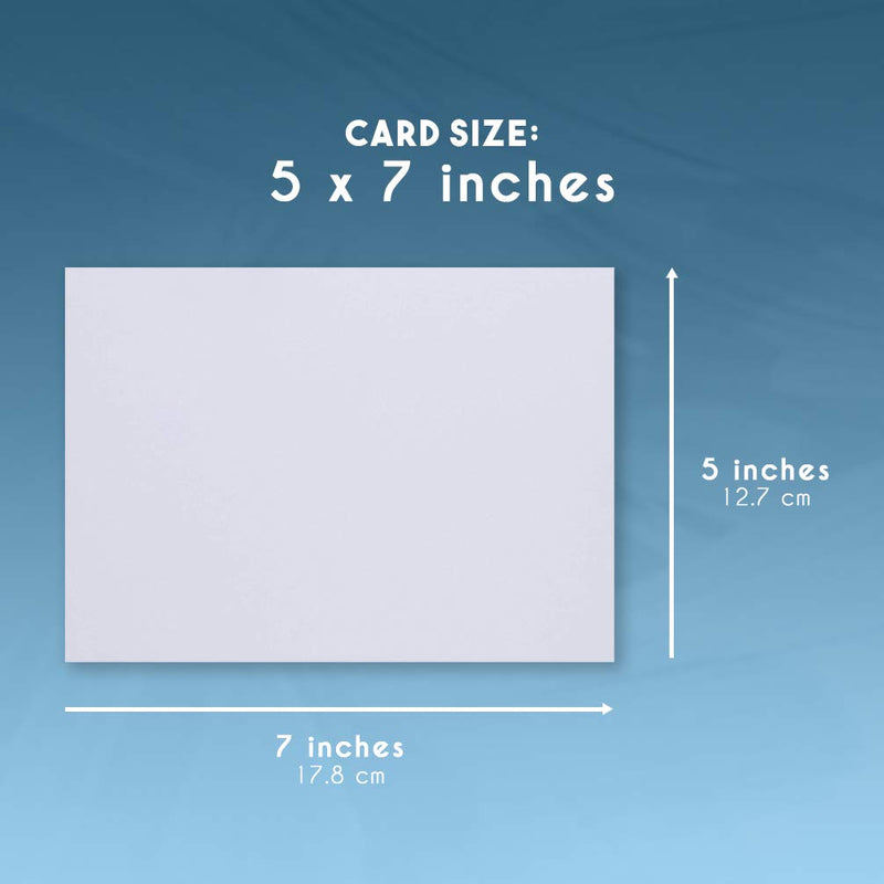 Index Cards - 200-Pack 5x7 Heavyweight White Cardstock, 110lb 300GSM Cover Card stock, Unruled Thick Paper, For Flash Note, Postcard, Invitation, Brochure, Marketing Material, Signage, 5 x 7 Inches