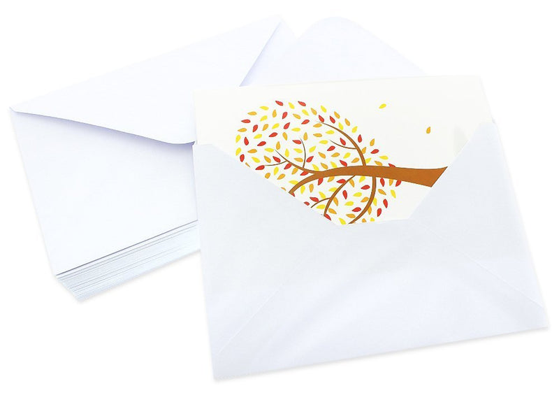 48 Pack All Occasion Assorted Blank Note Cards Greeting Cards Bulk Box Set - 6 Colorful Heart Shaped Tree Designs - Blank on the Inside Notecards with Envelopes Included - 4 x 6 Inches