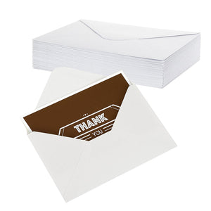 Thank You Cards - 48-Count Thank You Notes, Bulk Thank You Cards Set - Blank on the Inside, Contemporary and Modern Font Style - Includes Thank You Cards and Envelopes, 4 x 6 Inches