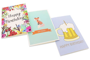Birthday Card - 36-Pack Birthday Cards Box Set, Happy Birthday Cards - Unique Assorted Designs Blank on the Inside Birthday Card Bulk, Envelopes Included, 4 x 6 Inches