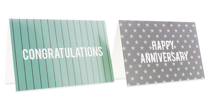 Best Paper Products 36 Pack Anniversary Cards and Congratulations Cards - Blank Greeting Cards - Greeting Cards Bulk Assorted Cards - Star and Stripe Designs, Envelopes Included, 4 x 6 Inches