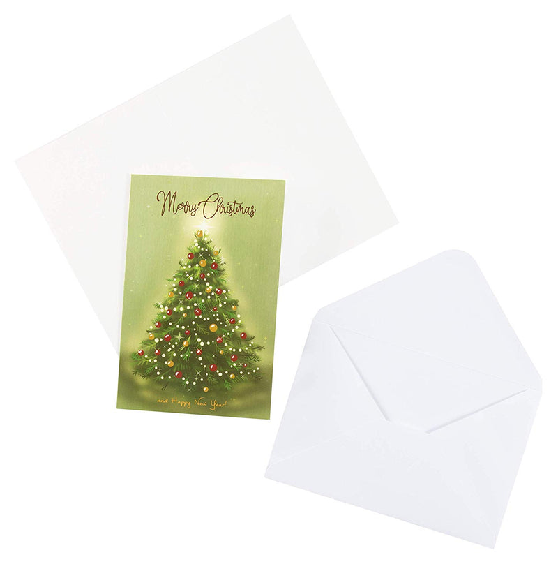 48-Pack Vintage Merry Christmas Greeting Cards Box Set - Holiday Greeting Cards with 6 Vintage Christmas Designs, Envelopes Included, 4 x 6 Inches