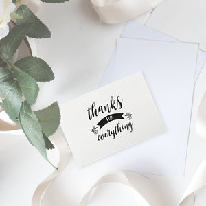 48 Assorted Thank You Cards Single-Side Printing Greeting Notecards in Postcard Style, Bulk Variety Set Includes 6 Different Designs