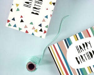 48 Pack Happy Birthday Greeting Cards, 6 Colorful Doodle Designs, Bulk Box Set Variety Assortment, Envelopes Included 4 x 6 Inches