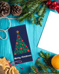 36-Pack Merry Christmas Holiday Greeting Card - Xmas Money and Gift Card Holder Cards in 6 Christmas Tree Designs, Bulk Assorted Winter Holiday Cards Box Set with Envelopes Included, 3.6 x 7.25 Inches