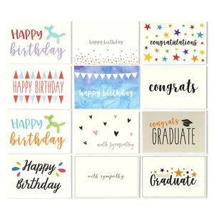 144 Pack Assorted All Occasion Greeting Cards – Includes Birthday, Graduation, Baby Shower and Sympathy Cards, 48 Various Designs - Bulk Box Set Variety Pack with Envelopes Included, 4 x 6 Inches