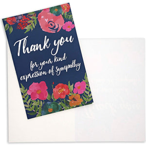 Pipilo Press Sympathy Thank You Cards with Envelopes (48 Pack)