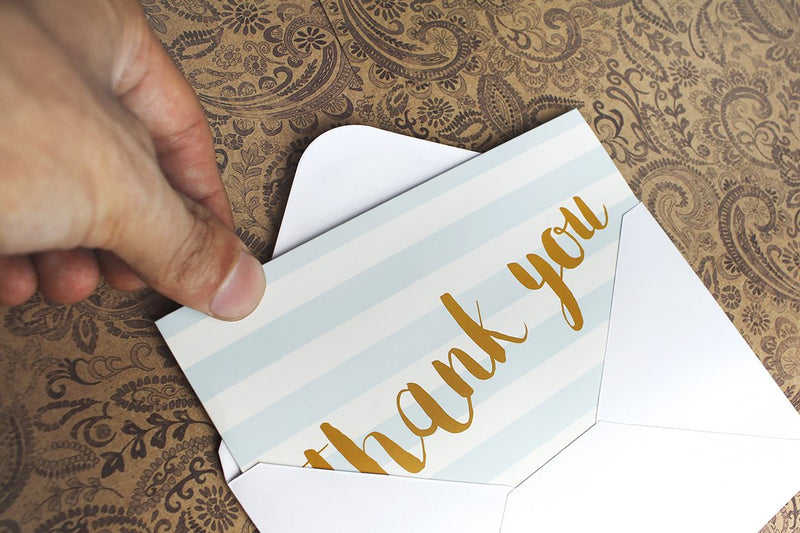 Thank You Cards - 144-Count Thank You Notes, Bulk Thank You Cards Set - Blank on the Inside, 6 Unique Polka Dot and Stripe Designs - Includes Thank You Cards and Envelopes, 4 x 6 Inches