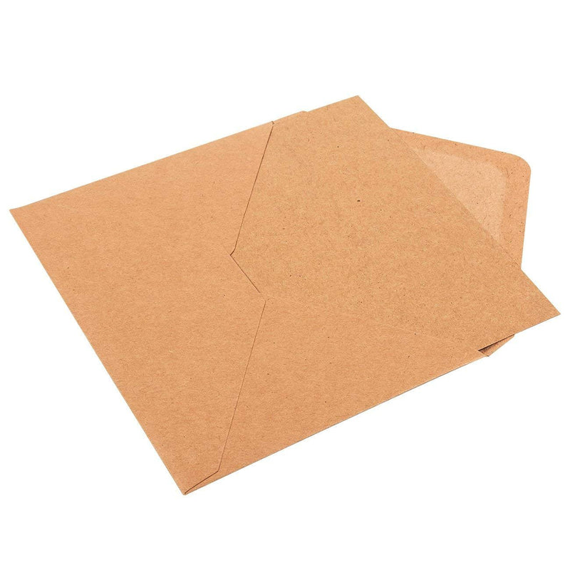 A7 Envelopes and Cards - 50-Count A7 Invitation Envelopes and 50-Count 5 x 7 Flat Cards, Kraft Paper A7 Cards and Envelopes Set for Weddings, Graduations, Baby Showers, Parties, 5.25 x 7.25 Inches