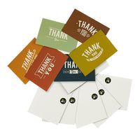 Thank You Cards - 48-Count Thank You Notes, Bulk Thank You Cards Set - Blank on The Inside, 6 Vintage Typeface Designs - Includes Thank You Cards and Envelopes, 4 x 6 Inches