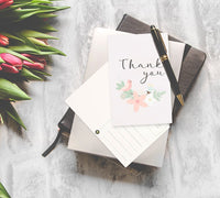 Best Paper Greetings 72-Pack Bulk Blank Thank You Postcards for Wedding, Bridal, and Baby Shower, Floral Note Cards, 4 x 6 Inches