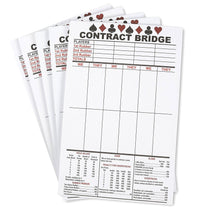 Best Paper Greetings Bridge Score Cards with Trick Values (Pack of 5, Total 250 Sheets)