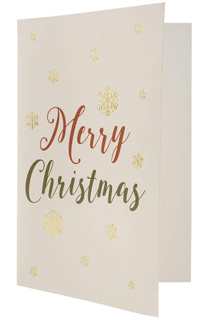 48-Pack Merry Christmas Holiday Greeting Card - Happy Holidays Xmas Cards in 6 Gold Foil Designs, Bulk Assorted Festive Winter Holiday Cards with Envelopes, 4 x 6 Inches