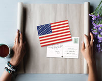 American Flag Postcards - 40-Pack Patriotic Postcards Set, All Occasion Postcards Bulk, Blank on the Inside, 4 x 6 Inches