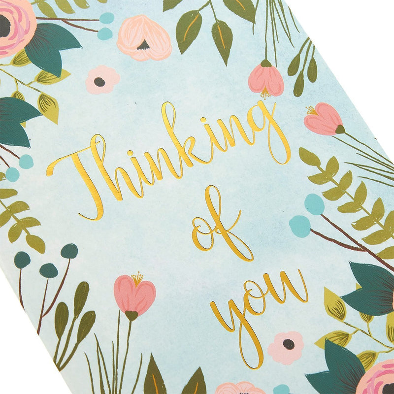48-Pack Thinking of You Note Cards - Bulk Box Set - Blank on the Inside - Colorful Flower Designs with Gold Foil Print - Includes 48 Greeting Cards and 48 Envelopes - 4 x 6 Inches