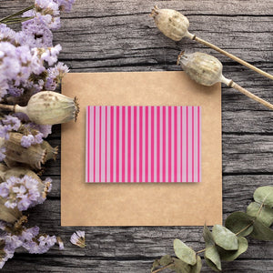 48 Pack Every All Occasion Blank Greeting Cards Bulk Box Set 6 Colorful Striped Designs, Purple, Orange, Green, Yellow, Blue, Envelopes Included, 4 x 6 Inches