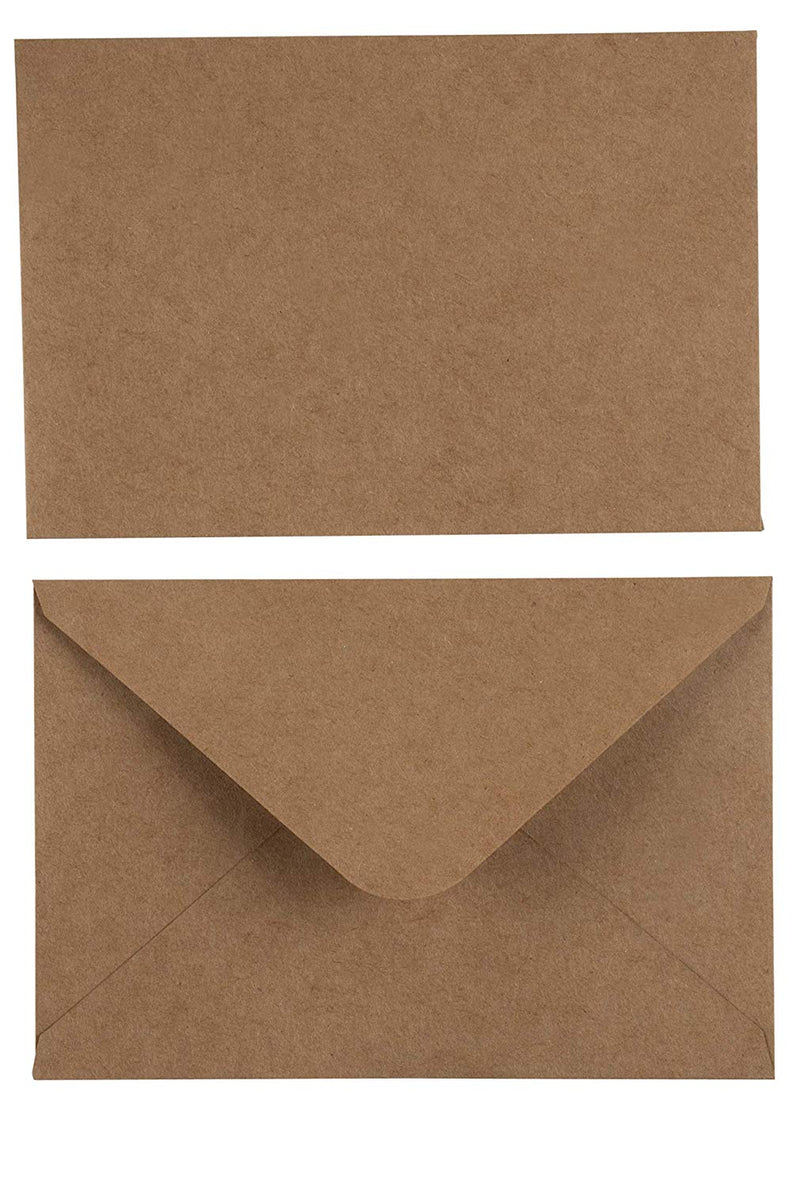 200 Pack Brown Kraft Paper A4 Envelopes for 4 x 6 Greeting Cards and Invitation Announcements - Value Pack Square Flap Envelopes - 4.2 x 6.2 Inches - 200 Count
