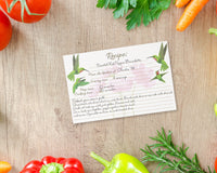 Recipe Cards - 60-Pack Blank Recipe Cards, Double-Sided, Hummingbird and Floral Design,