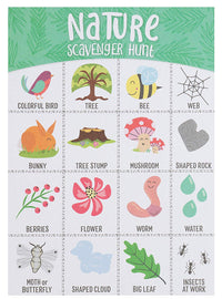 Scavenger Hunt Game - 50-Pack Nature Scavenger Hunt Set for Kids, Childrens Outdoor Game Cards, Spot up to 16 Items, Birthday Party Favors, Classroom Trips, Family Activity