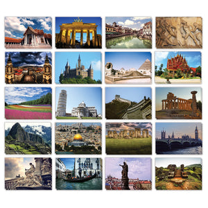 Best Paper Greetings Travel Postcards - 40-Pack Around The World Postcards, Postcards Bulk, 20 Assorted Designs, 4 x 6 Inches