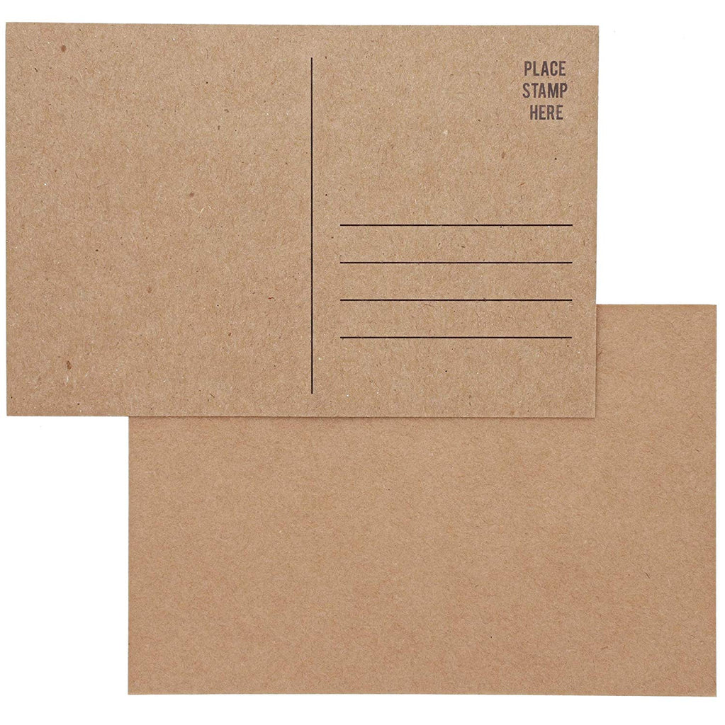 Sustainable Greetings Blank Kraft Mailable Postcards (100 Count)
