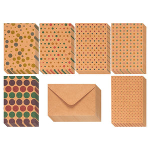 36 Pack Kraft Greeting Cards with Envelopes Blank Inside (Polka Dot)