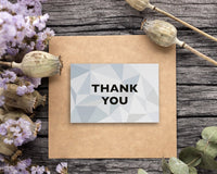 Thank You Cards - 48-Count Thank You Notes, Bulk Thank You Cards Set - Blank on The Inside, 6 Stained Glass Pattern Designs – Includes Thank You Cards and Envelopes, 4 x 6 Inches