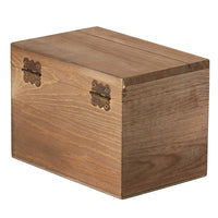 Wood Recipe Organization Box with Cards and Dividers, 7.1 x 5 x 4.7 Inches