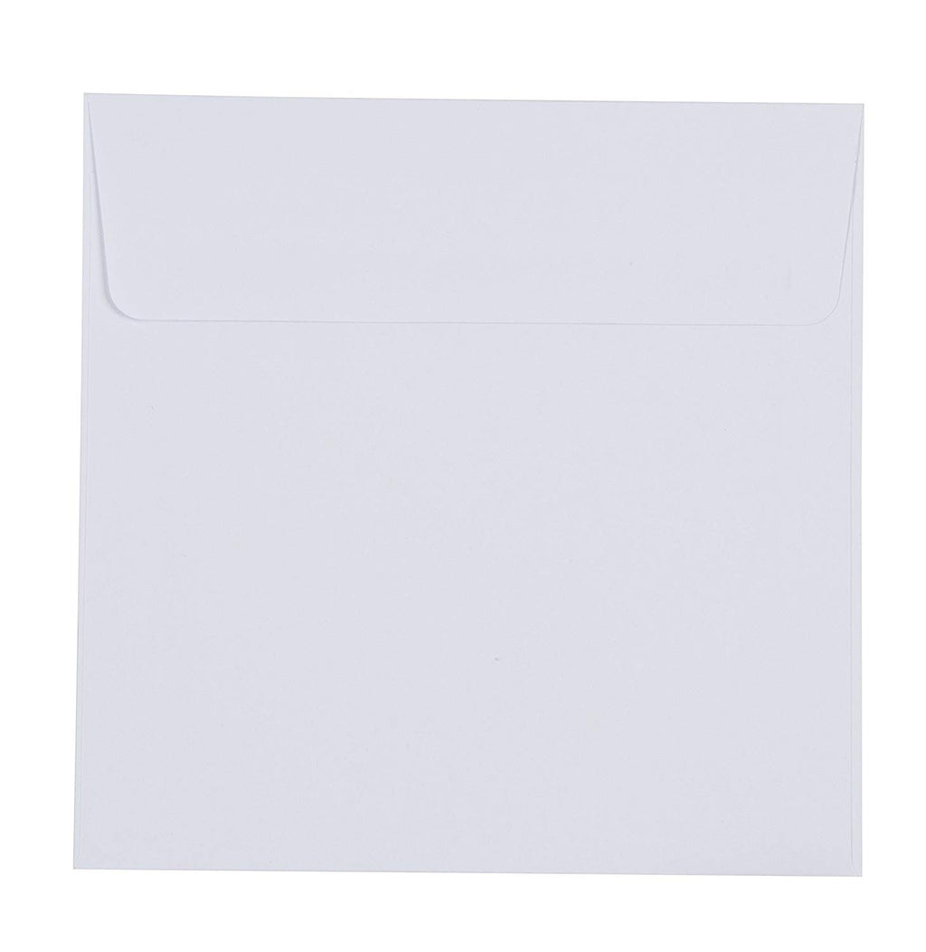 Best Paper Greetings Square Envelopes for 5x5 Inch Cards (50 Count), White