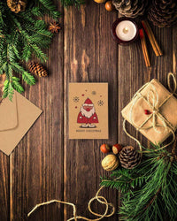 36-Pack Merry Christmas Holiday Greeting Cards Bulk Box Set - Winter Holiday Xmas Kraft Greeting Cards with Yuletide Character Illustrations, Envelopes Included, 4 x 6 Inches
