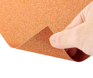 Glitter Cardstock Paper - 24-Pack Orange Glitter Paper for DIY Craft Projects, Birthday Party Decorations, Scrapbook, Double-Sided, 250GSM, 8 x 12 inches