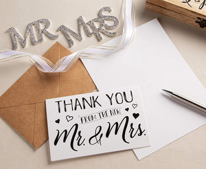 Sustainable Greetings Wedding Thank You Cards (120 Pack)