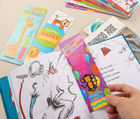 Sustainable Greetings 72-Pack Bulk Birthday Book Markers for Kids, Students, and Classroom - 12 Cute Bookmark Designs